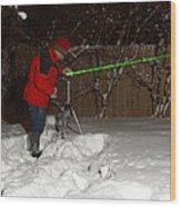 Snow Researcher Wood Print