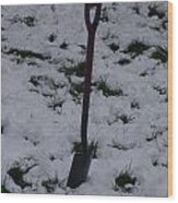 Snow  Spade Wood Print