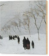 Snow Storm Wood Print by Anton Mauve