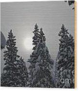 Snow Sun Wood Print