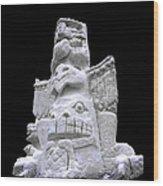 Snow Totem Pole Wood Print