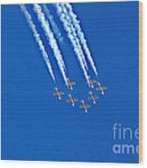 Snowbirds At Airshow Wood Print