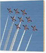 Snowbirds In The Big Diamond Formation Wood Print