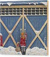 Snowed In Wood Print by Anne Klar