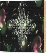 Snowflake Bubble Glass Wood Print