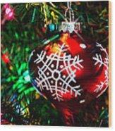 Snowflake Ornament Wood Print