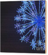 Snowflake Sparkle Wood Print