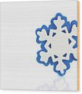 Snowflake With Reflection Wood Print