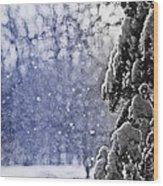 Snowflakes Wood Print