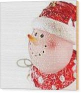 Snowman Figure Wood Print