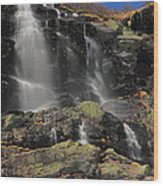 Snowmelt Waterfalls In Tuckermans Ravine Wood Print