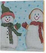 Snowmen 2 Wood Print