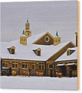 Snowy Day At Erdenheim Farm Wood Print