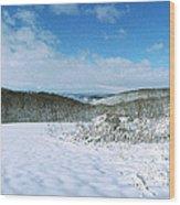 Snowy Hill Wood Print