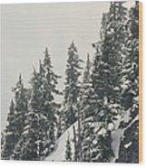 Snowy Ridge Near Snoqualmie Pass Wood Print