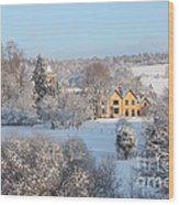 Snowy Scene In England Wood Print