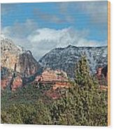 Snowy Sedona Afternoon Wood Print