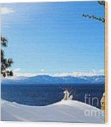 Snowy Tahoe Wood Print