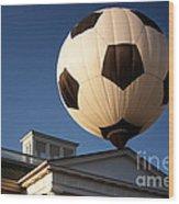 Soccer Ball Over Long Branch Wood Print