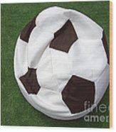 Soccer Ball Seat Cushion Wood Print