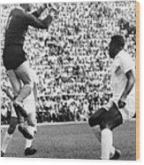 Soccer Match, 1966 Wood Print by Granger
