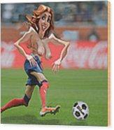 Soccer Mom Wood Print