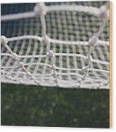 Soccer Net Wood Print