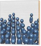 Social Networking, Conceptual Image Wood Print