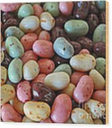 Soda Fountain Jelly Bellies Wood Print
