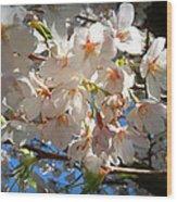 Soft Flowers Wood Print