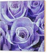 Soft Lavender Roses Wood Print