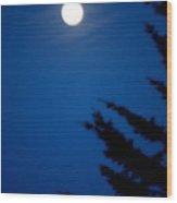 Soft Moon Wood Print