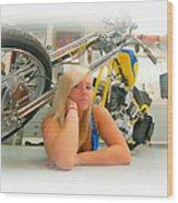 Soft N Sweet Harley Chopper  Wood Print