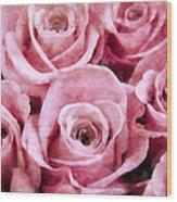 Soft Pink Roses Wood Print