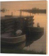 soft sunset on Myles Bay Wood Print
