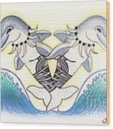 Soga'imiti Dolphins Wood Print