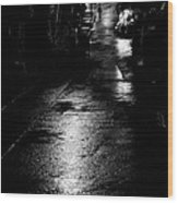 Soho Noir Wood Print by Dean Harte