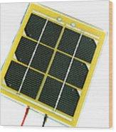 Solar Cell Wood Print by Friedrich Saurer