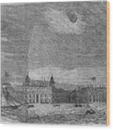 Solar Eclipse, 1858 Wood Print