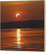 Solar Eclipse 2012 - Fort Worth Texas Wood Print