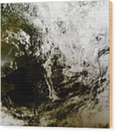 Solar Eclipse Over Southeast Asia Wood Print