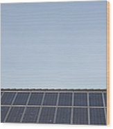 Solar Panels On A Roof Wood Print