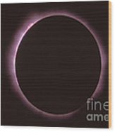 Solar Prominence And Chromosphere Wood Print by Science Source