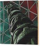 Solarised Totem Pole Wood Print