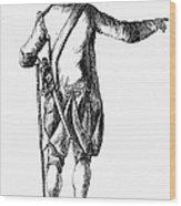Soldier, 18th Century Wood Print