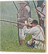 Soldier Fires Wood Print