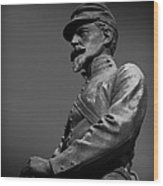Soldier In Bronze  Wood Print