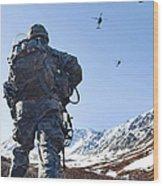 Soldier Patrols Through Alaska's Wood Print