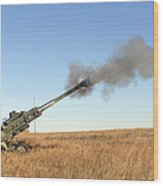 Soldiers Fire A 155mm M777 Lightweight Wood Print