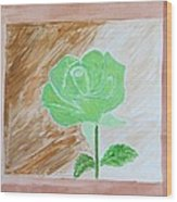 Solitary Rose Wood Print